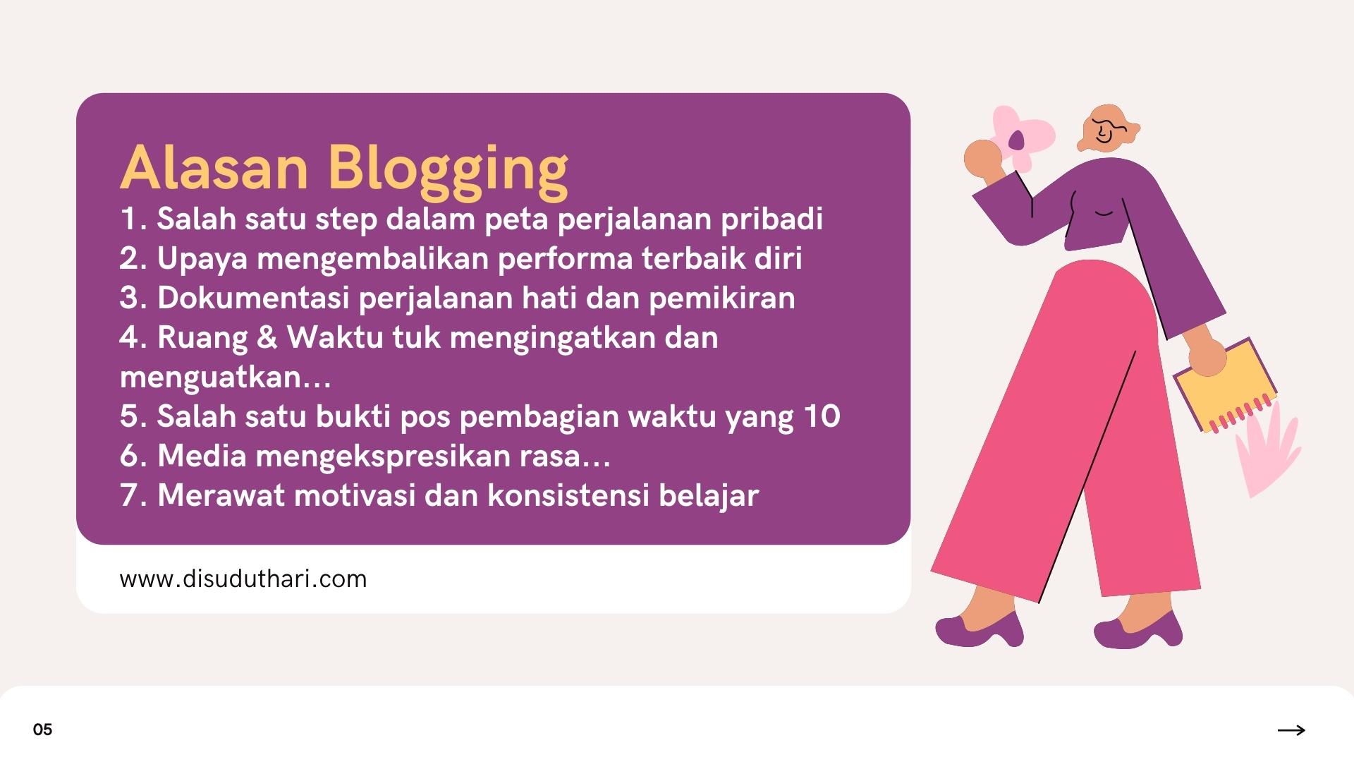 7 Alasan Blogging