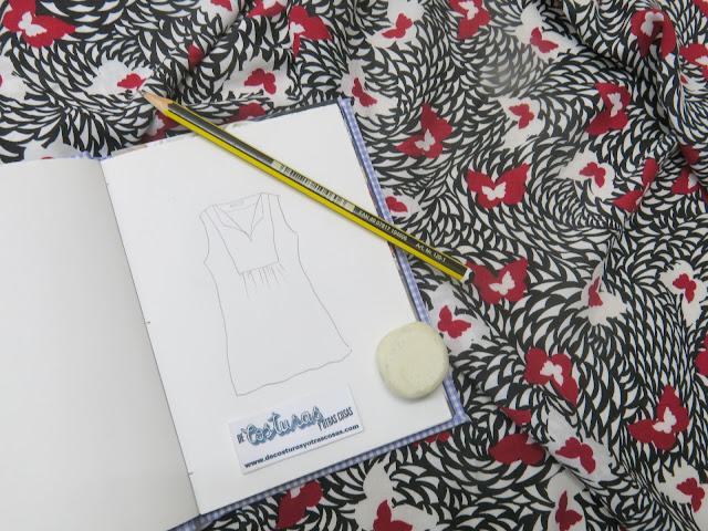 diseño blusa con canesú delantero