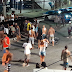 Colisão entre moto e bicicleta no Centro de Arraial, na noite desta quarta (27)