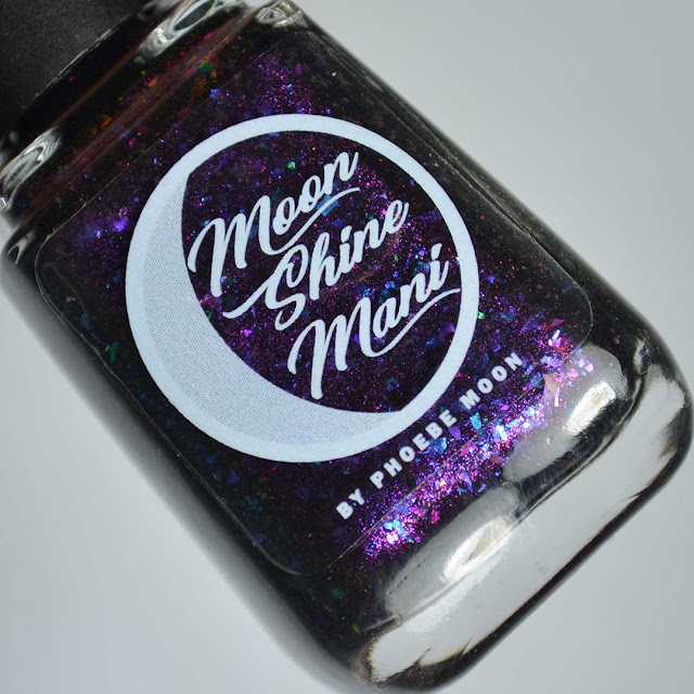 black jelly nail polish in a bottle