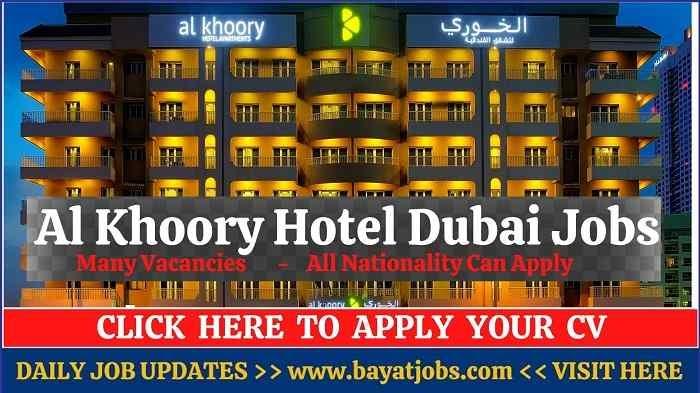 Al Khoory Hotel Dubai Jobs Latest Vacancies 2020