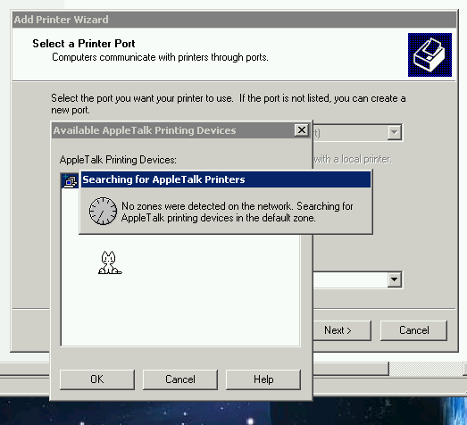 Supratim Sanyal's Blog: Connecting Windows XP to AppleTalk Printer