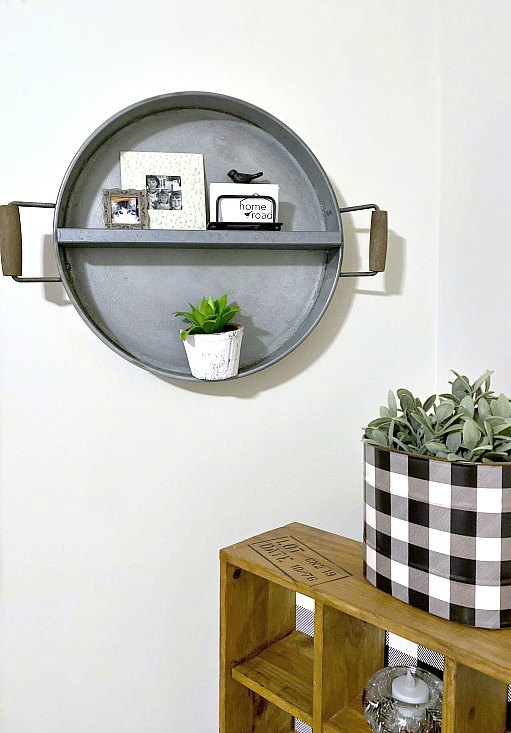 DIY Farmhouse Shelf from a Repurposed Tray