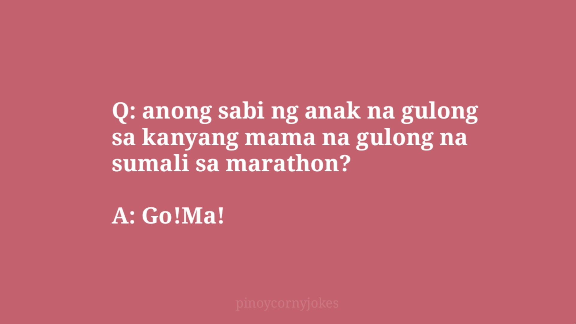 go ma tagalog jokes question and answer