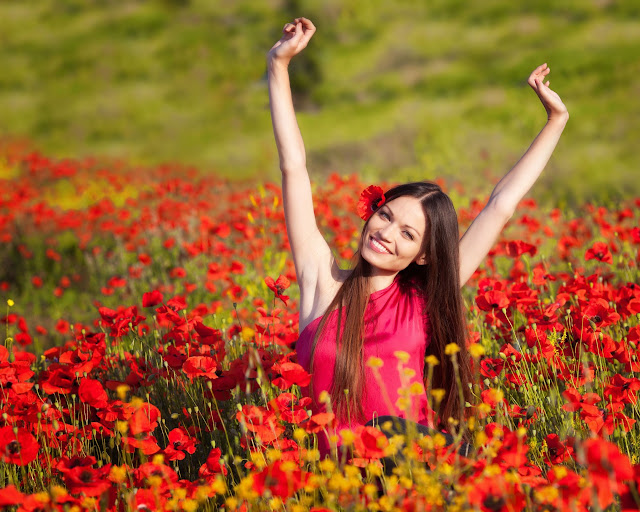 Girl With Flower HD Wallpapers Free Download
