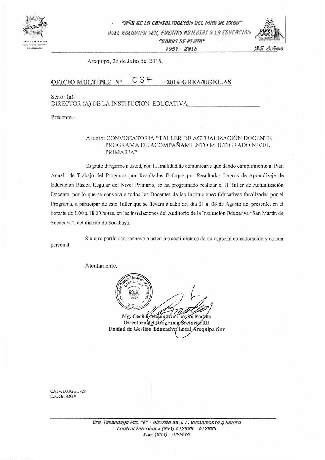 Convocatoria taller de capacitaci n docente programa de for Convocatoria para docentes