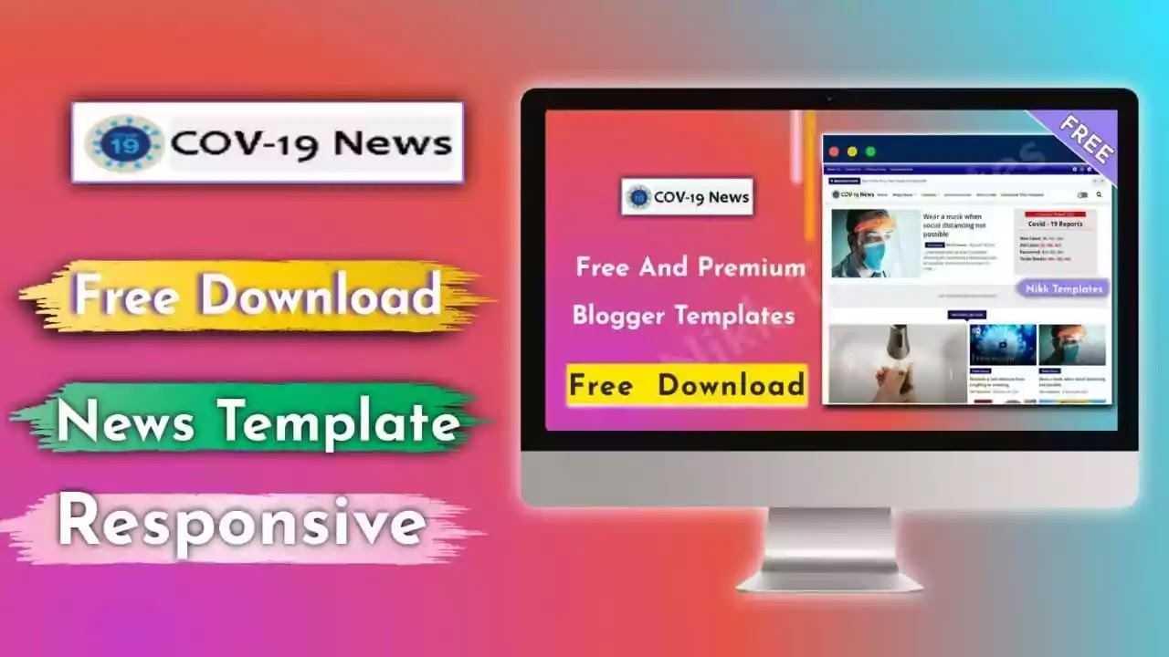 Cov-19 News Blogger Template {Free Download}