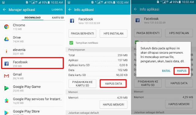 Cara Menghapus Data Aplikasi di HP Samsung 9