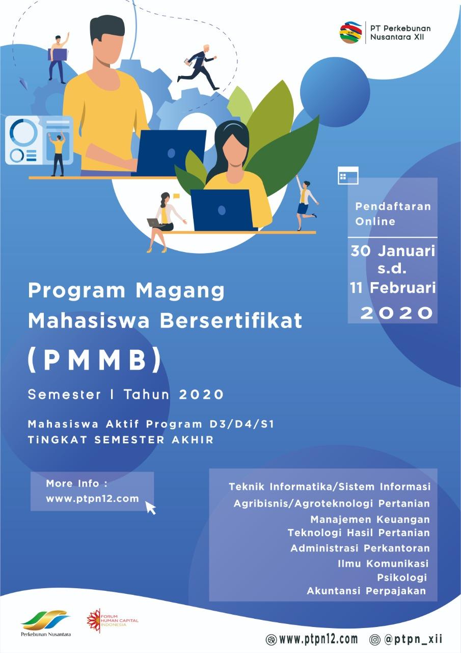 Lowongan Program Magang Mahasiswa Bersertifikat Pt Perkebunan Nusantara Xii Rekrutmen Dan Lowongan Kerja Bulan Februari 2021