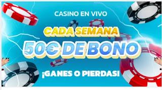 Mondobets bono 50 euros ganes o pierdas casino