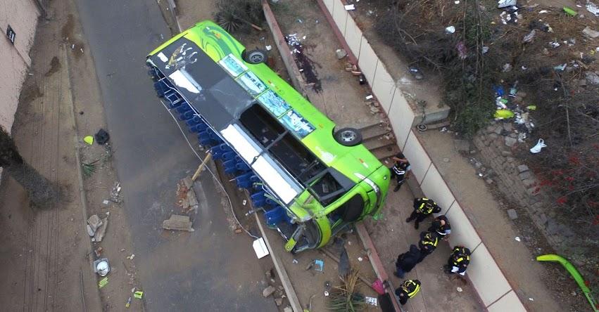 CERRO SAN CRISTÓBAL: Publican lista de heridos en accidente - Transpostes de Turismo «Green Bus»