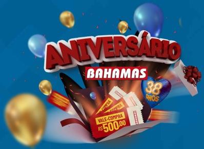 Cadastrar Promoção Aniversário Bahamas 2021 - 38 Anos Supermercados