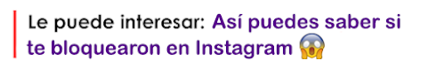cómo sé si me bloqueó de instagram