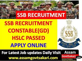 SSB Recruitment 2019