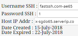Update SSH SGDO Server Super Fast July 2018