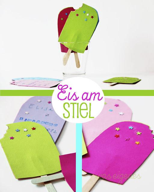 Kindergeburtstag: Einladung Eis am Stiel | waseigenes.com