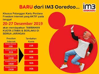 Dahsyat, Indosat Berikan Bonus Kuota 24 Jam di Akhir Tahun Pada Pelanggannya.