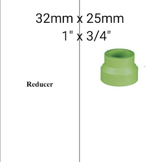 """Jual reducer pipa ppr lesso 1"""" x 1/4"""""""
