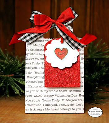 XOX Gift Tag create by Larissa Heskett using the Paper Sweeties Planner Series: ll Occasion Stamp Set