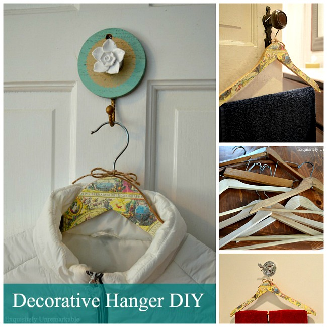 how to decorate hangers with wrapping paper