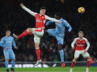 [Photo] Granit Xhaka Gives Verdict On Arsenal Win After Silly Mistake