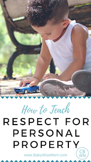 how to teach respect for personal property