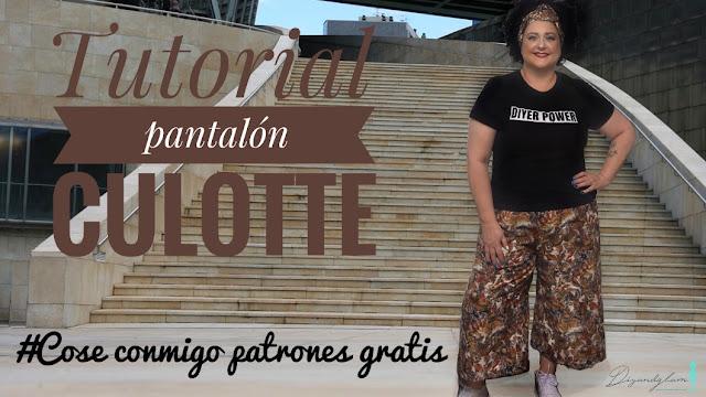 Pantalón culotte patrones gratis