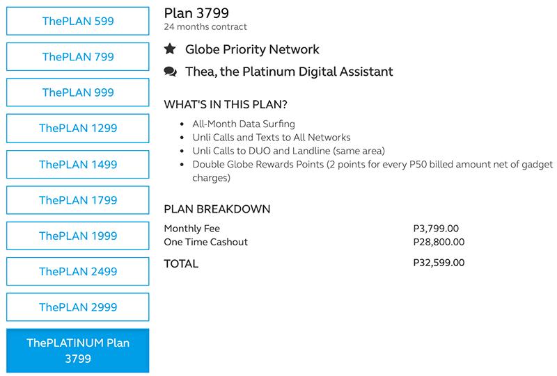 Globe's ThePLATINUM Plan