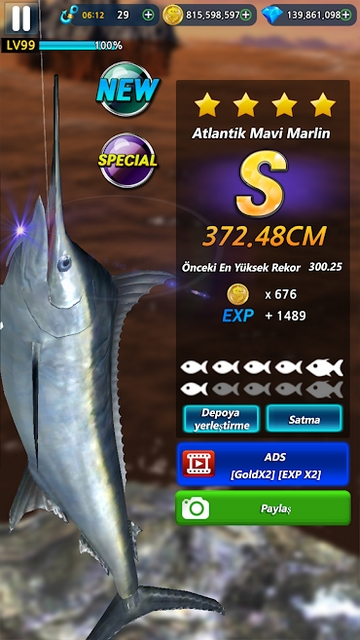 monster fishing 2019 hile apk