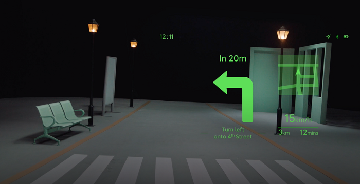 Xiaomi Smart Glasses Navigation Turn By Turn Map GPS