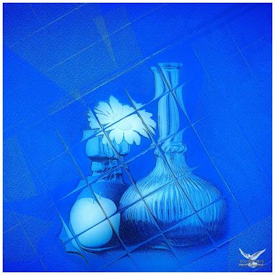 Tableaux photo bleue