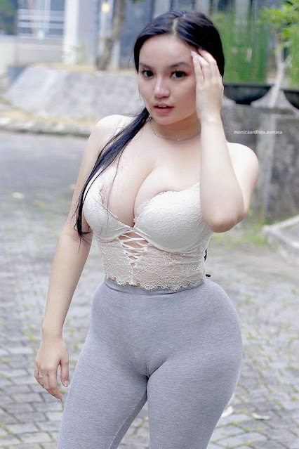 Hot and sexy big boobs photos of beautiful busty asian hottie chick Indonesian booty model Monica Ardhea Asmara photo highlights on Pinays Finest sexy nude photo collection site.