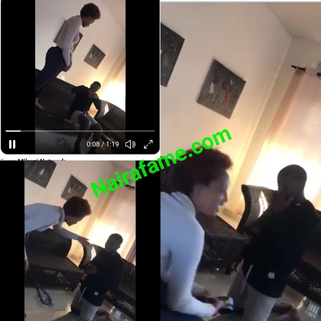 Two ladies recorded assaulting a man in their apartment. VIDEO