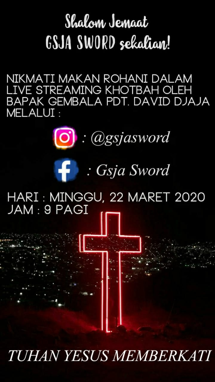 Ibadah live streaming gsja sword