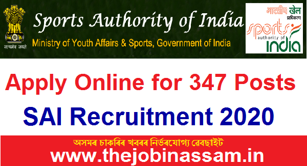 Sports Authority Of India Recruitment 2020: Apply Online For 347 Posts