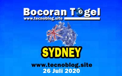 Bocoran Togel Sydney 27 Juli 2020