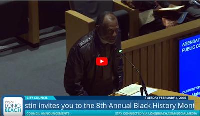 John Malveaux: Gaspar Yanga - African American Heritage Month presentation at Long Beach City Council