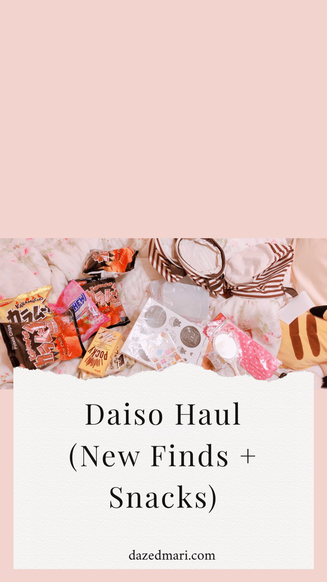 Favorites, Daiso, Daiso haul, Snacks