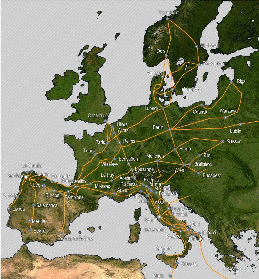 Pilgerwege Europa