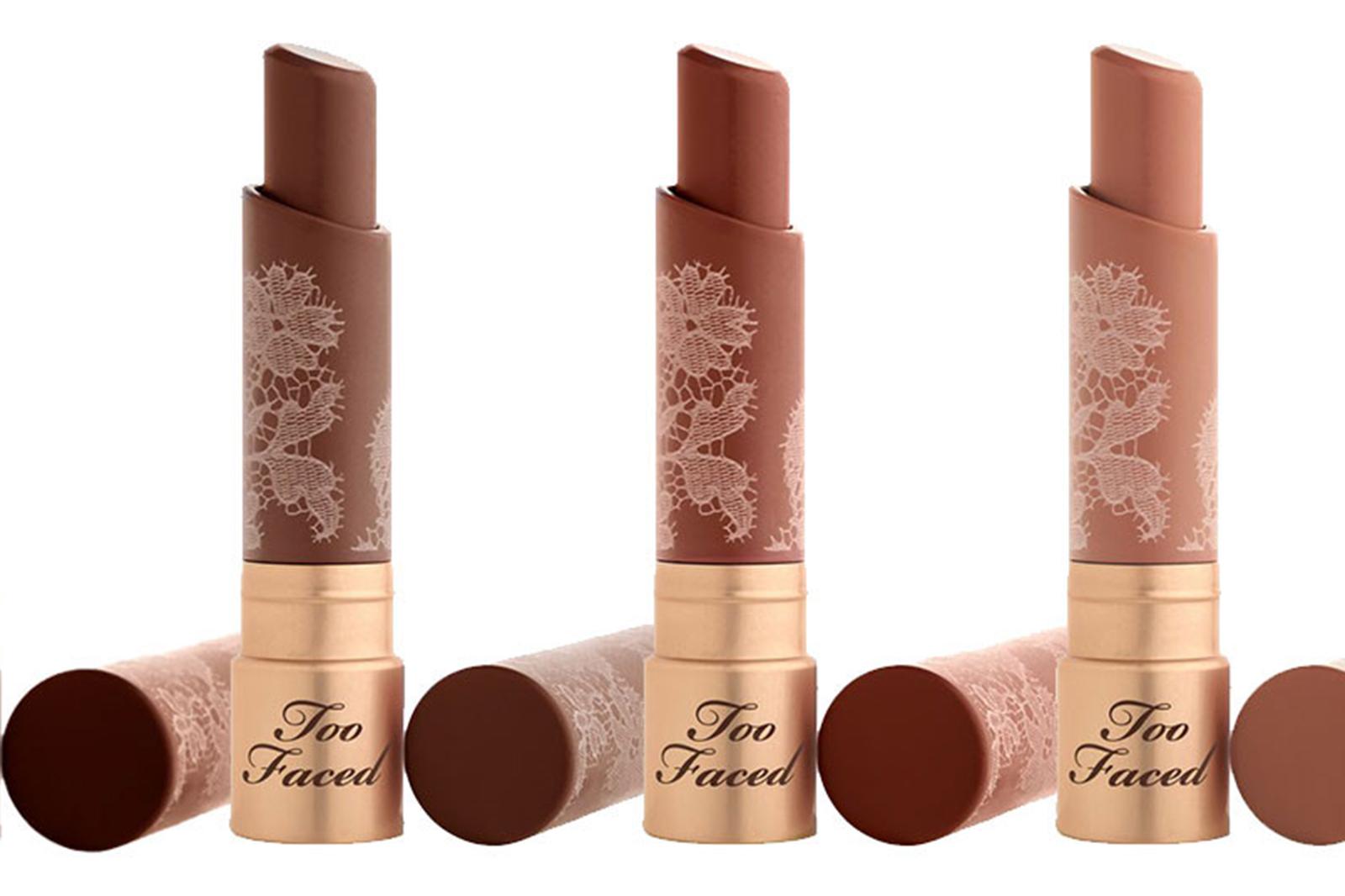 too faced naturel nude lipstick