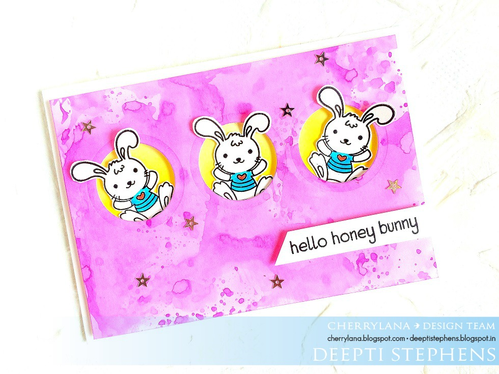 Hello Everyone! This Card Was Up On Cherrylana Designs Blog. I Used Their  Super Cute Honey Bunny Stamp Set. To Know The Process Of Card Making Watch  The ...