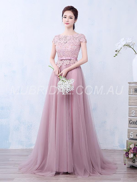 Pink Summer Floor-Length Sweep/Brush Fall Evening Celebrity Natural Dress http://www.mubridal.com.au/product/130644563.html