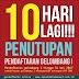 10 HARI LAGI GELOMBANG 1 DI TUTUP!