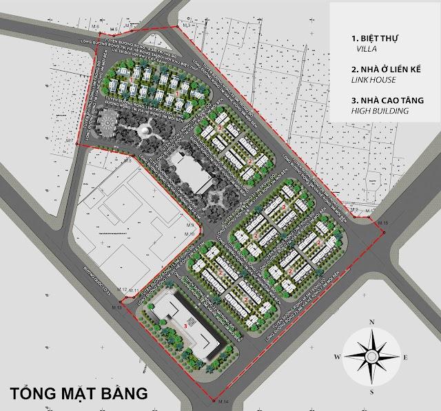 Thiết kế cảnh quan hạ tầng giá bán khu Yellow chung cư Helianthus Center Red River dự án Cổ Dương Đông Anh Hà Nội