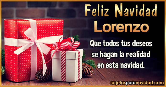 Feliz Navidad Lorenzo