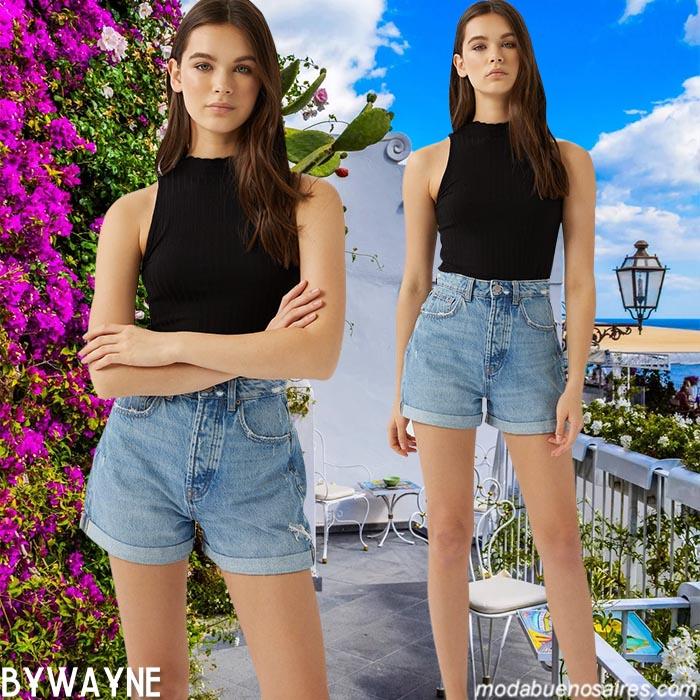 shorts de jeans de mujer moda verano 2021