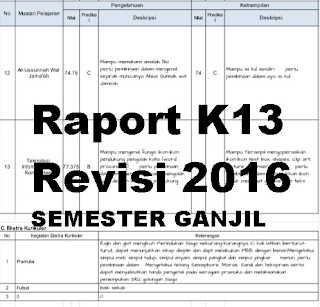 Raport K13 Revisi 2016 GANJIL