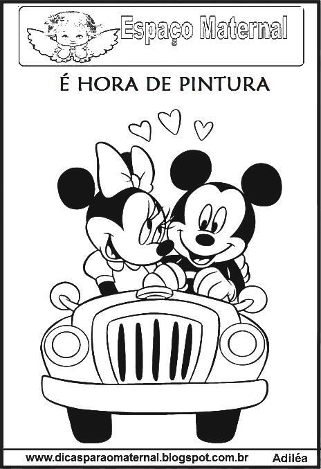 lindos desenhos da minnie e mickey mouse para colorir maternal