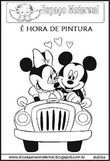 Desenho Minnie e Mickey colorir
