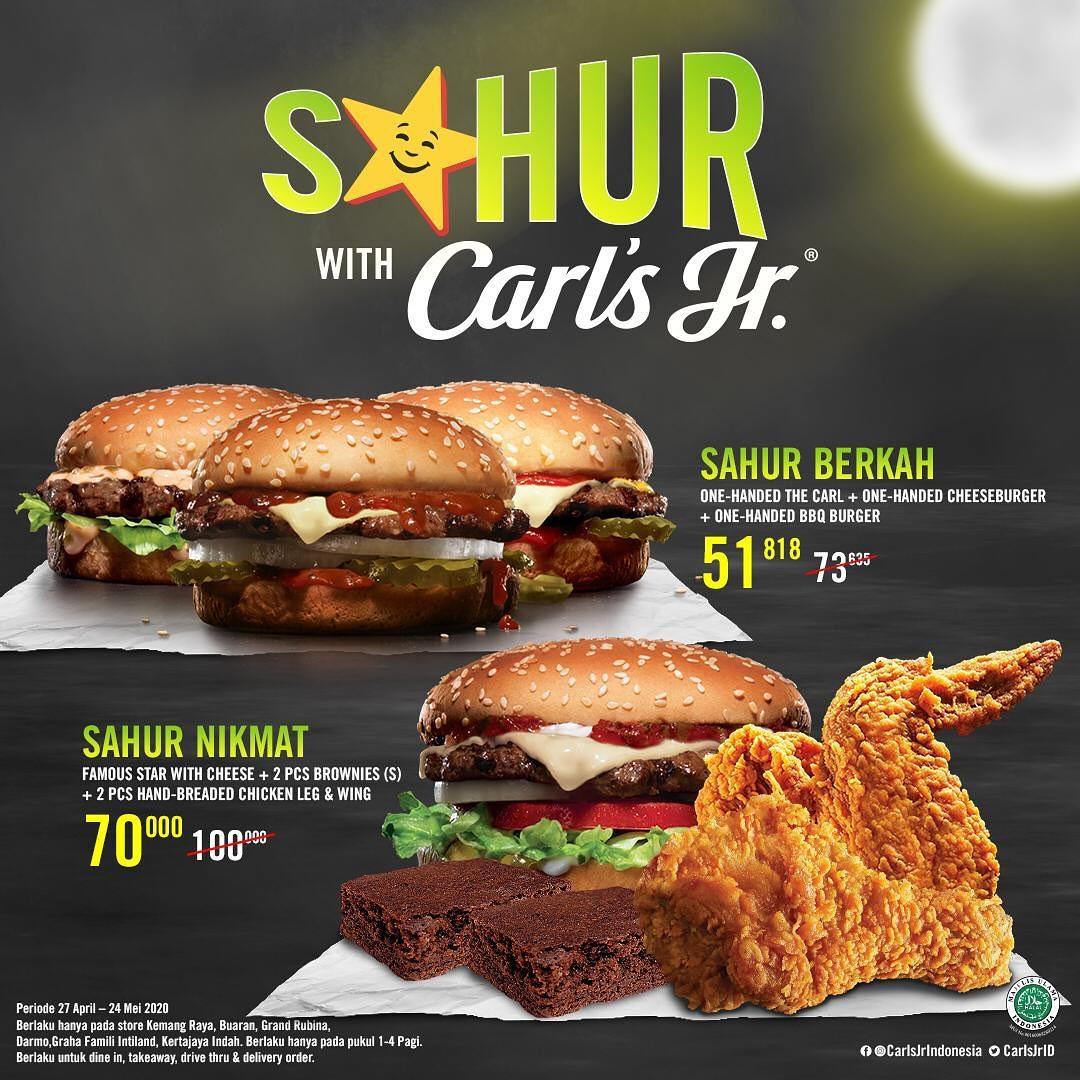 Promo Carl.s Jr Paket Sahur Nikmat & Berkah